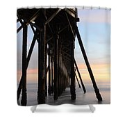 Sunset Pier California 3 Shower Curtain