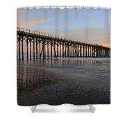 Sunset Pier  California 5 Shower Curtain