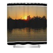 Sunset Pond Shower Curtain
