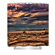 Sunset Rocks Shower Curtain