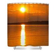 sunset Samsoe island Denmark Shower Curtain