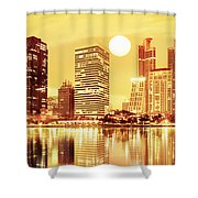 Sunset Scenes Of City Shower Curtain