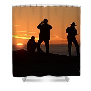 Sunset Silouettes Shower Curtain