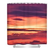 Sunset Skyscape Shower Curtain