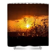 Sunset Splash 2 Shower Curtain