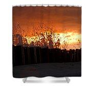 Sunset Splash 4 Shower Curtain