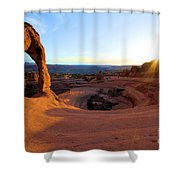 Sunset Starburst Shower Curtain