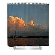 Sunset Storm Clouds Panorama Shower Curtain