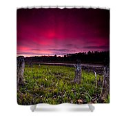 Sunset Stumps Shower Curtain