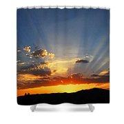 Sunset Sun Rays Shower Curtain