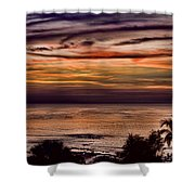 Sunset Swirl Shower Curtain