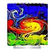Sunset Swirl Shower Curtain