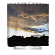 Sunset Valley Of Fire Shower Curtain
