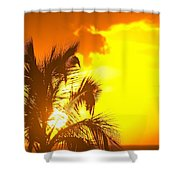 Sunset, Wailea, Maui, Hawaii, Usa Shower Curtain