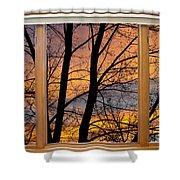 Sunset Window View Shower Curtain