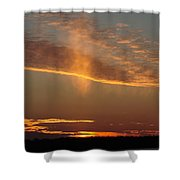 Sunset With Mist Shower Curtain