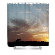 Sunset With Some Cows Shower Curtain