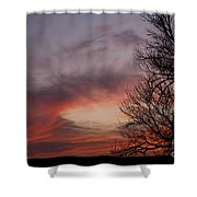 Sunset With Trees Shower Curtain