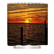Sunset Xvii Shower Curtain