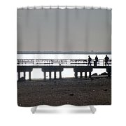 Sunsets On Coney Island Pier Shower Curtain