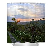 Sunsetting Over Costa Rica Shower Curtain