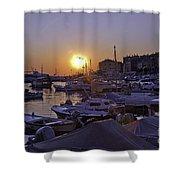 Sunsetting Over Rovinj 1 Shower Curtain