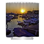 Sunsetting Over Rovinj 2 Shower Curtain