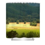 Sunshine In The Valley Shower Curtain