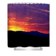 Sunshine Mountain Range Shower Curtain
