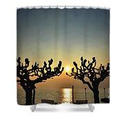 Sunshine Over A Lake Shower Curtain
