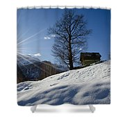 Sunshine Over The Snow Shower Curtain