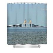Sunshine Skyway Bridge Shower Curtain