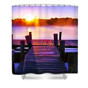 Sunup Over Rock Creek Shower Curtain