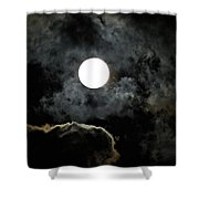 Super Moon II Shower Curtain