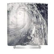 Super Typhoon Wipha Shower Curtain
