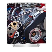Supercharger Shower Curtain