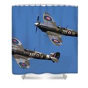 Supermarine Spitfires Shower Curtain