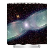 Supersonic Exhaust From Nebula Shower Curtain by STScI/NASA/Science Source