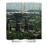 Supertrees At The Gardens By The Bay In Singapore Shower Curtain