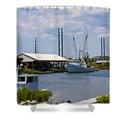 Surf City View Shower Curtain