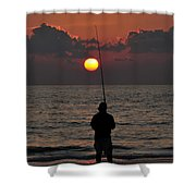 Surf Fishing 1 Shower Curtain