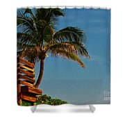 Surf Lookout Shower Curtain