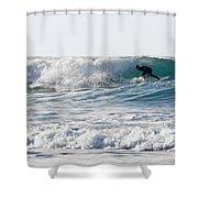 Surfers At Porthtowan Cornwall Shower Curtain