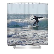 Surfing The Atlantic Shower Curtain