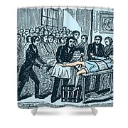 Surgery Without Anesthesia, Pre-1840s Shower Curtain