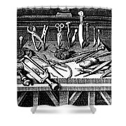 Surgical Equipment, 16th Century Shower Curtain
