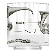 Surgical Instruments, 18th Century Shower Curtain