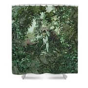 Surprised Bather Shower Curtain