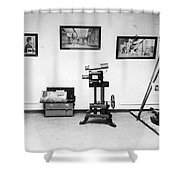 Surveillance Equipment, 19th Century Shower Curtain