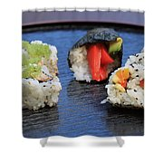 Sushi California Roll Shower Curtain
